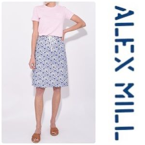 ALEX MILL Heart Pattern Tie Waist Skirt
